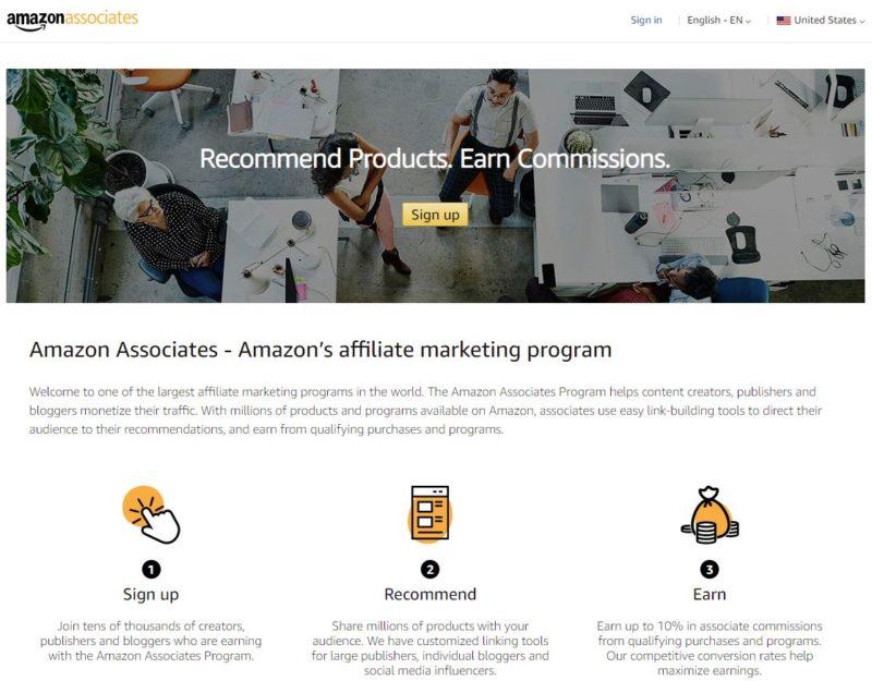 Amazon Associates US Homepage