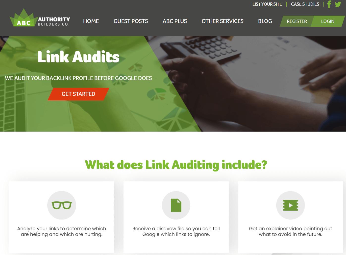 Authority Builders Link Audit Service