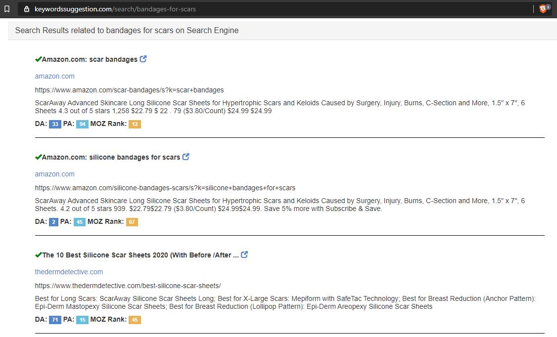 Keyword Scrapper Example