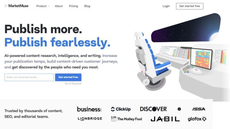 MarketMuse Homepage