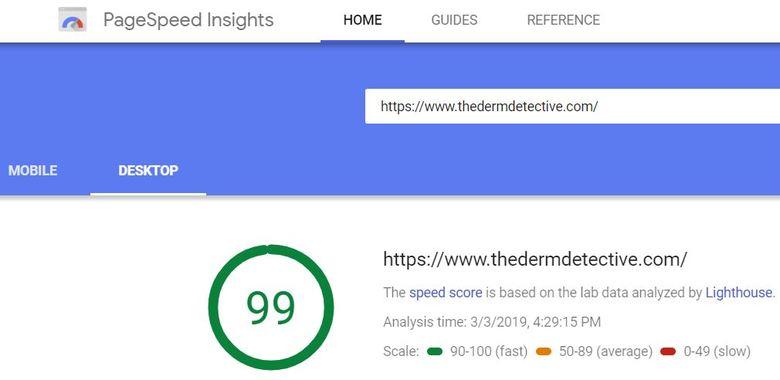 Page Speed Insights - Desktop